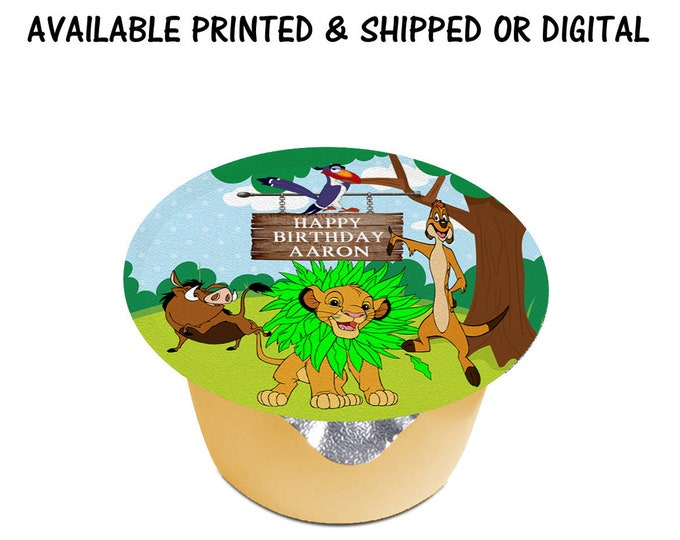 Lion King Applesauce Labels (3 inches) - Applesauce Label - Jello Labels - Custom Labels- Digital - Party Printables - Printed