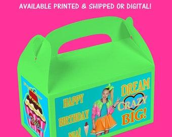JoJo Favor Box - JoJo Gable Box - JoJo Birthday Party - Custom Party Favors - Digital - Party Printable