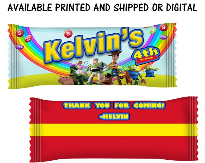 Toy Story Skittles Candy Wrappers - Toy Story Party Favors - Toy Story Theme - Skittles Candy Wrappers -  Party Printable - Digital