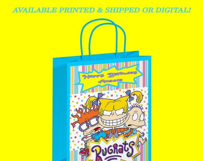 Rugrats Gift Bag - Rugrats Favor Bag - Custom Party Favor - Rugrats Party - Gift Bag - Digital - Party Printable - Printed