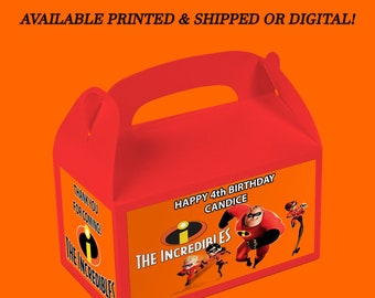 The Incredibles Favor Box - Incredibles - Favor Box Labels - Custom Party Favor - Digital File - Party Printables - Printed
