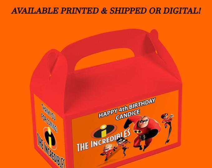 Incredibles Gable Box - Incredibles - Gable Box Labels - Custom Party Favor - Digital File - Party Printables - Printed