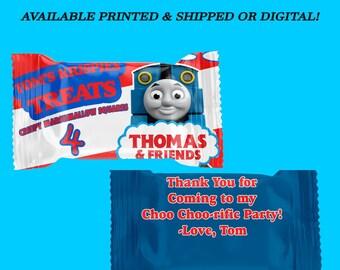 Thomas the Train Rice Krispy Treat Wrappers - Thomas the Train Party - Party Favors - Digital - Party Printables - Printed