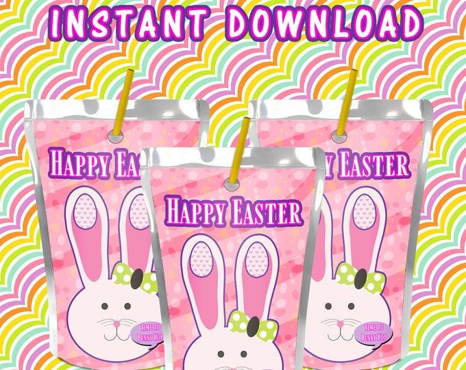 Easter Juice Pouch Label - INSTANT DIGITAL DOWNLOAD - File Not Editable - Easter Theme Easter Capri Sun Label- Digital File- Party Printable