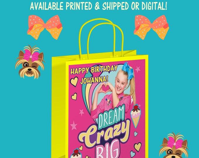 JoJo Gift Bag Labels - JoJo - Party Favor - JoJo Party - Favor Bag - Gift Bag - Digital - Party Printables - Printed