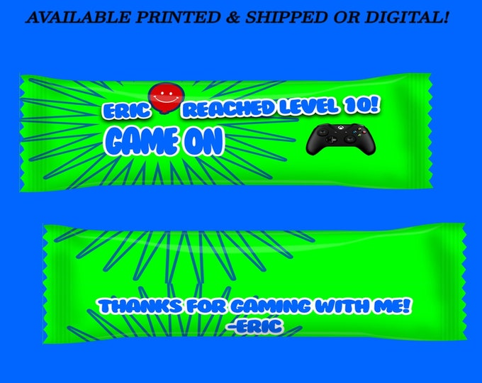 Video Gamer Airhead Wrappers - Video Gamer - XBox Favors - Game on Favors - Candy Favors - XBox Party - Digital - Party Printable - Printed