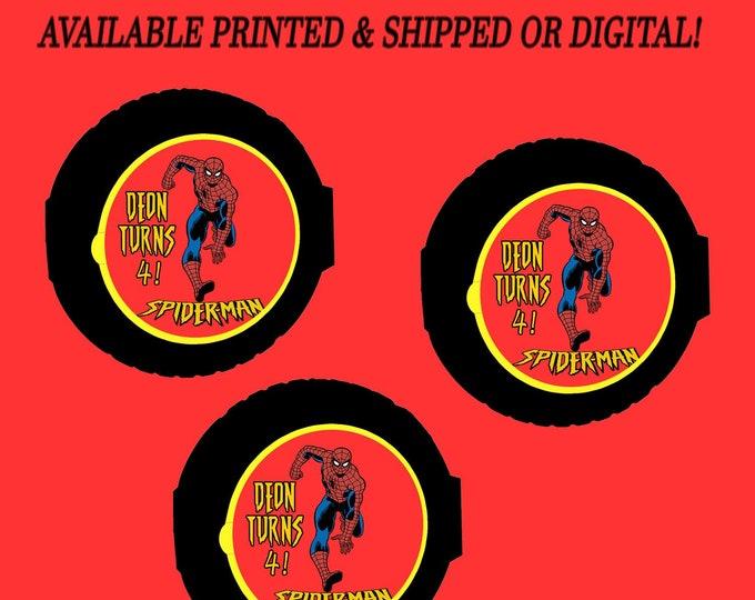 Spiderman Bubble Gum Tape - Bubblegum - Spiderman Favor - Spiderman Party - Digital - Stickers - Printed - Party Printable