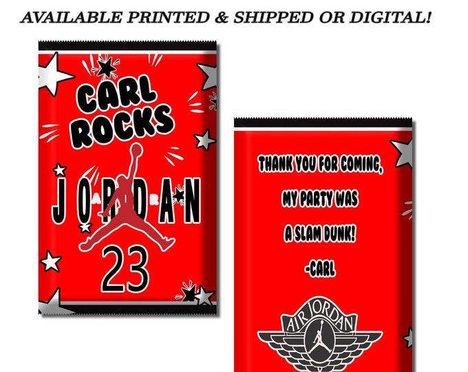 Jordan Pop Rock Wrapper - Party Favor - Jordan Party - Air Jordan Party - Candy Favors - Digital - Party Printables - Printed