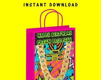 Fresh Princess Gift Bag Label - INSTANT DIGITAL DOWNLOAD -File Cannot Be Customized - File Not Editable - Gift Bag - Fresh Princess