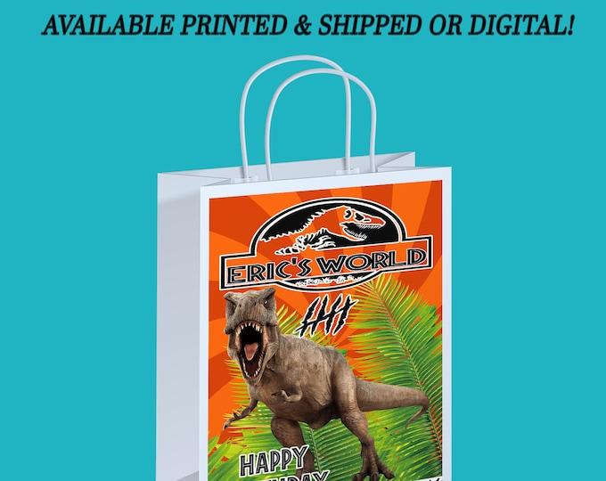 Jurassic World Gift Bag Label - Jurassic Park Gift Bag Label - Gift Bag - Jurassic World - Jurassic Park - Digital - Party Printable