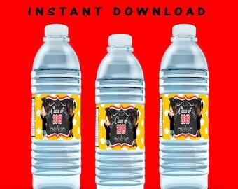Kids Graduation Water Bottle Label - INSTANT DIGITAL DOWNLOAD - File Cannot Be Customized - File Not Editable - Kids Graduation - Digital