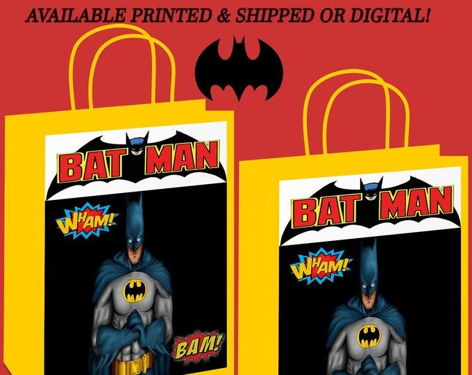 Batman Gift Bag Label -  Party Favor - Batman Party - Gift Bag - Batman - Party Printables - Digital - Printed