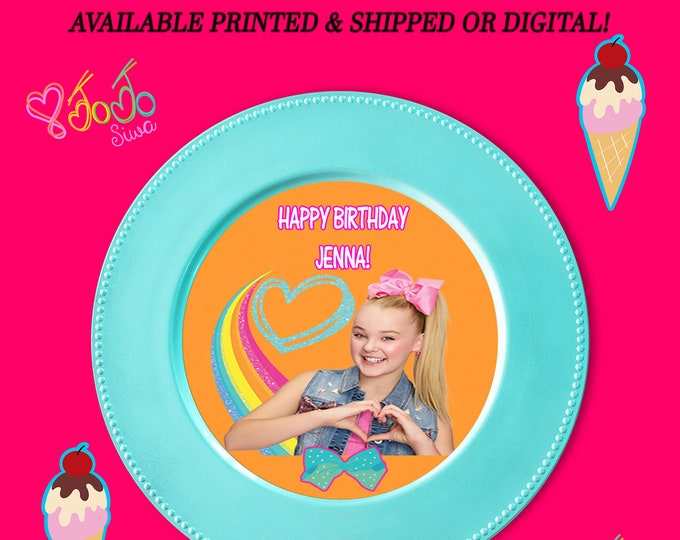 JoJo Charger Insert - Custom Charger Plate Inserts - JoJo Party - Digital - Party Printables - Printed