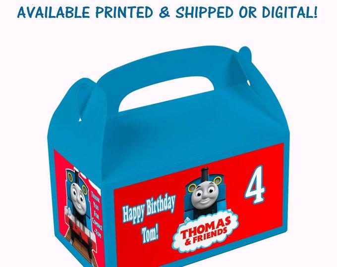 Thomas the Train Gable Box - Thomas the Train Party - Custom Party Favor - Gable Box Labels - Digital - Printed - Party Printable