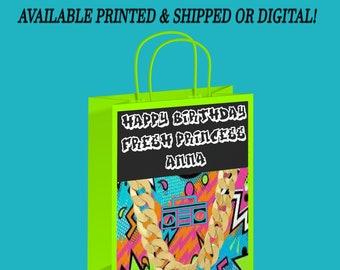 Fresh Princess Gift Bag - Fresh Princess Party - Gift Bags - Favor Bag - Supplies - Fresh Princess - Digital - Printed - Party Printable