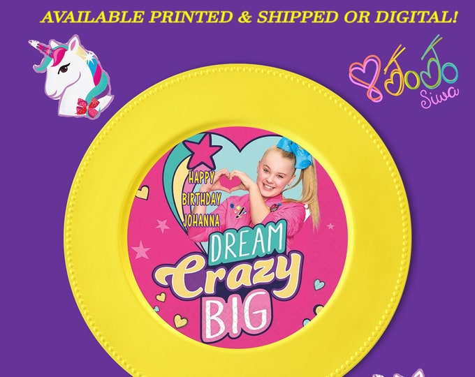 JoJo Charger Plate Insert - Custom Charger Plate Inserts - JoJo Party - Digital - Party Printables - Printed