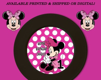 Minnie Mouse Charger Insert - Charger Plate Insert - Custom Charger Plate Insert - Minnie Mouse Party - Digital - Party Printable - Printed