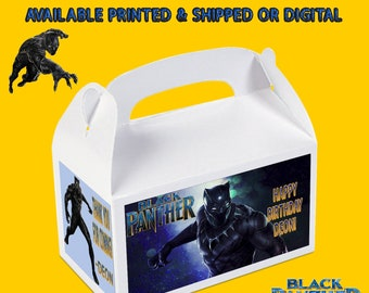 Black Panther Gable Box - Black Panther Party - Party Favor - Black Panther Labels - Party Printables - Printed - Digital