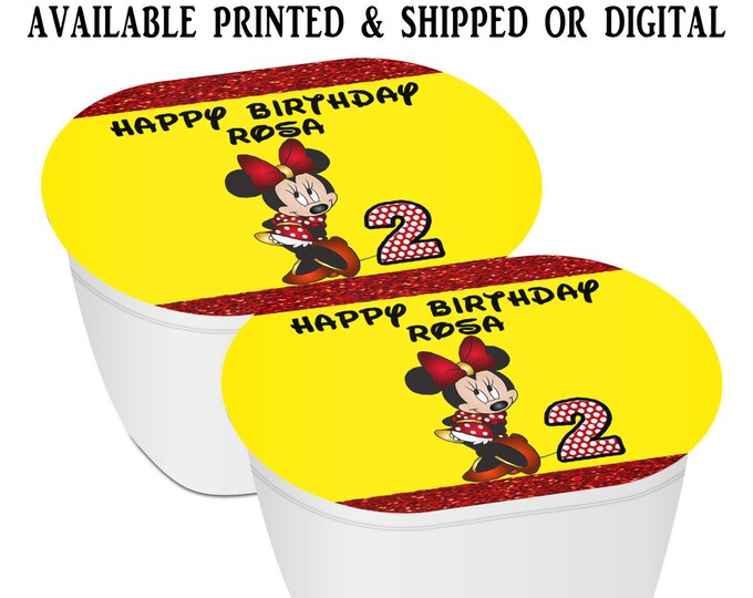 Minnie Mouse Stacked Chips - Potato Chip Snack Stack - Party Favors - Minnie Mouse Birthday - Snack Stacks - Digital - Party Printables