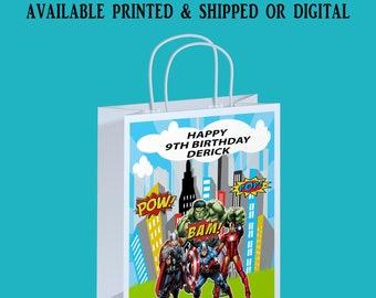 Avengers Gift Bag Label - Avengers Theme Party - Avengers Party Favor - Gift Bag Label - Digital - Party Printable
