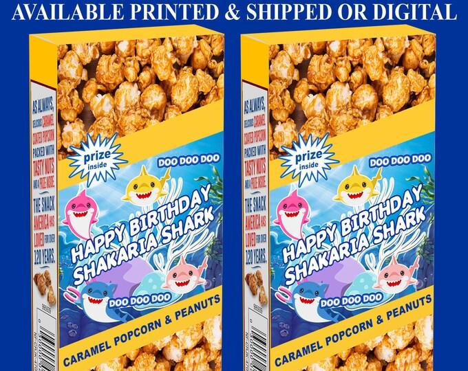 Baby Shark Cracker Jack Labels - Baby Shark Birthday Party - Cracker Jack Labels - Baby Shark Party Favor - Digital - Party Printables