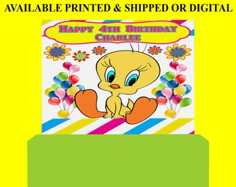 Tweety Bird Backdrop - Custom Backdrop - Tweety Bird Party Favor - Tweety Bird - Party Printable - Printed - Digital