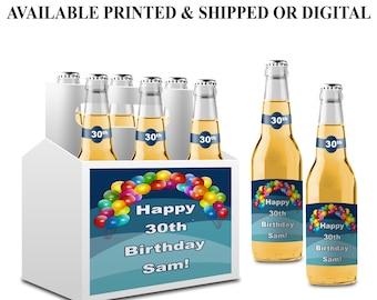 Custom Beer Bottle Label - Custom Beer Carrier Label - Happy Birthday Beer Label - Gift for Dad - Dads Gifts - Beer Sticker