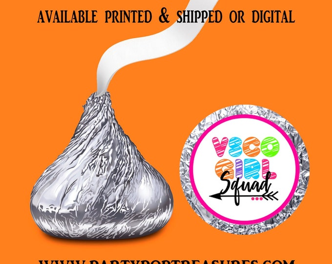 VSCO Hershey Kisses Label - VSCO Candy Label - Party Favors - Birthday Party Favors - Custom Labels - Digital - Party Printable