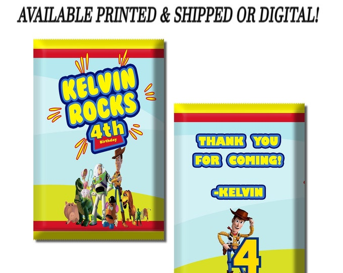 Toy Story Pop Rock Wrapper - Custom Party Favor - Toy Story Party Favors - Custom Candy Favors - Pop Rocks - Digital - Party Printables