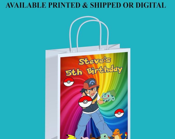 Pokemon Gift Bag Label - Gift Bag Label - Gift Bags - Favor Bag - Supplies - Digital - Printed - Party Printables