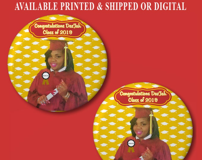 Graduation Pushback Button Pins - Graduation Pins - Graduation Favor - Pushback Button Pins - Button Pins - Party Favors