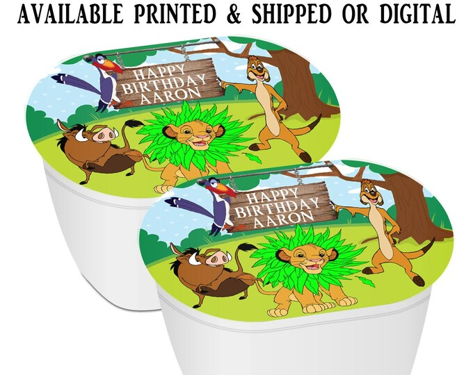 Lion King Stacked Chips - Potato Chip Snack Stack - Lion King Party Favors - Lion King Birthday - Snack Stacks - Digital - Party Printables