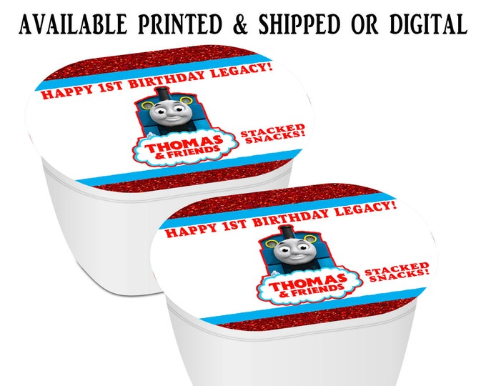 Thomas the Train Stacked Chips - Potato Chip Favors - Thomas the Train Party Favors - Thomas the Train Birthday - Digital - Party Printables
