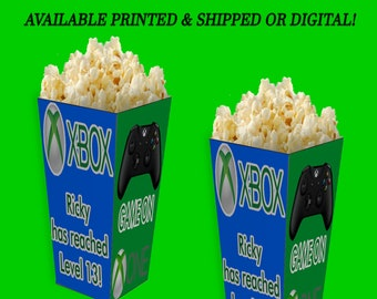 Game On Popcorn Box - Personalized Party Favor - Game On Party Favor -  Game On Birthday Party - Gamer - Digital - Party Printable - Printed