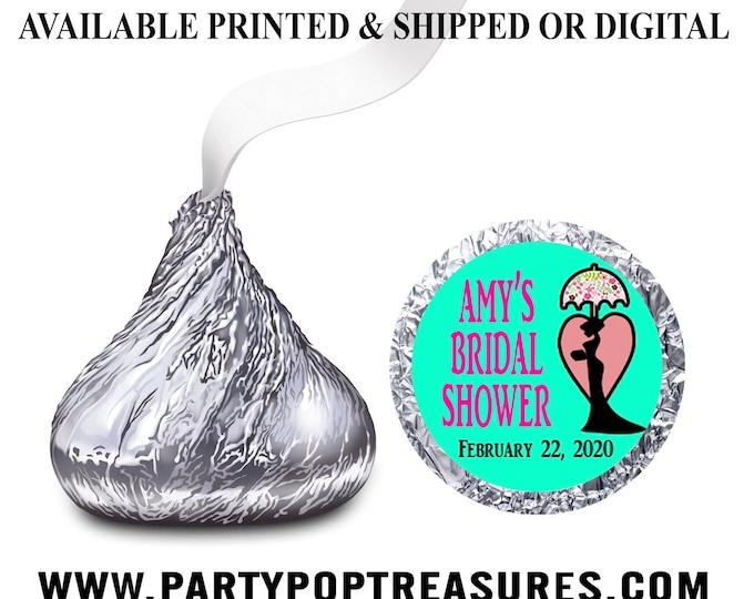Bridal Shower Hershey Kisses Label - Candy Label - Party Favors - Bridal Shower Favors - Custom Party Favors - Digital - Party Printable