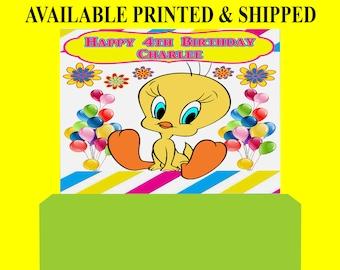 Tweety Bird Backdrop - Custom Backdrop - Tweety Bird Party Favor - Tweety Bird - Party Printable - Printed - Digital