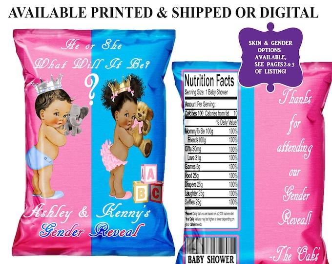 Gender Reveal Chip Bag - Favor Bags - Custom Chip Bags - Baby Shower - Digital File - Party Printable - Printed