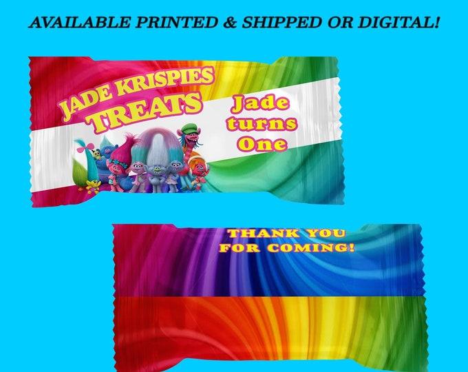 Trolls Rice Krispy Treat Wrapper -Trolls Birthday Party - Rice Krispy Treat Wrapper - Digital - Trolls Party Favor - Party Printable