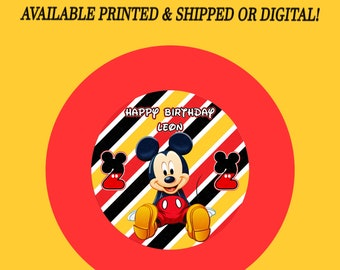 Mickey Mouse Charger Plate Insert - Mickey Mouse - Custom Charger Plate Insert - Mickey Mouse Party - Digital - Party Printable - Printed