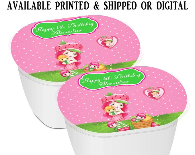 Strawberry Shortcake Stacked Chips - Potato Chip Snack Stack - Party Favors - Snack Stacks - Digital - Party Printables