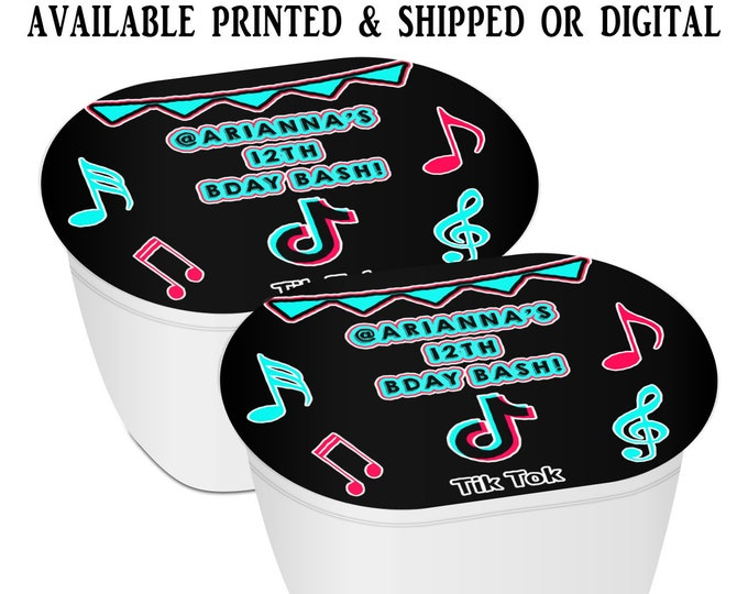 Music Stacked Chips - Potato Chip Snack Stack - Party Favors - Music Birthday Theme - Snack Stacks - Digital - Party Printables
