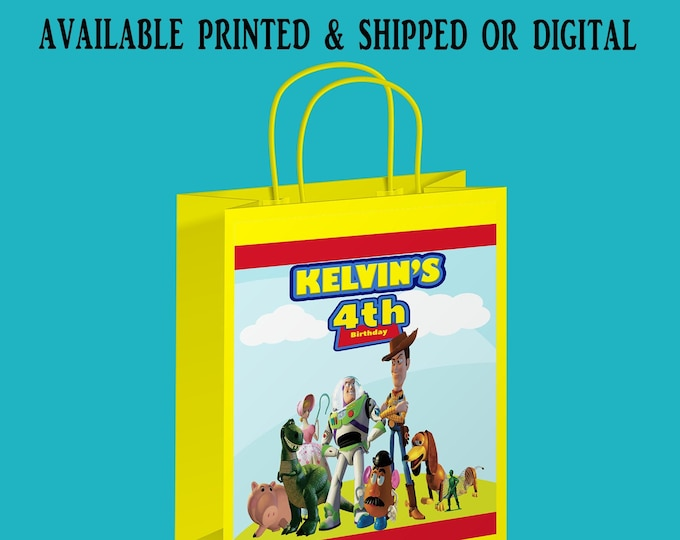 Toy Story Gift Bag - Gift Bag Label - Toy Story Party Favors - Toy Story Theme - Toy Story - Digital File - Printed - Party Printable