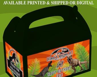 Jurassic World Gable Box - Jurassic World Party - Custom Party Favor - Gable Box Labels - Digital - Printed - Party Printable