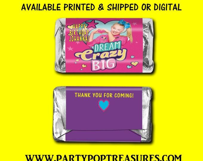 JoJo Siwa Mini Hershey Bar Labels - Candy Bar Labels - Party Favors - JoJo Siwa Favors - Custom Party Favors - Digital - Party Printable