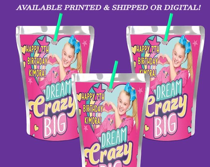 JoJo  Capri Sun Label - Party Favor - JoJo Juice Pouch Label - Digital File - Printable - Party Printable - Printed