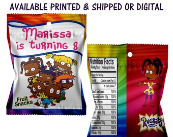 Rugrats Fruit Snack Favors - Fruit Snack Favors - Rugrats Party - Custom Favors - Digital - Party Favor - Rugrats Party Printable - Printed