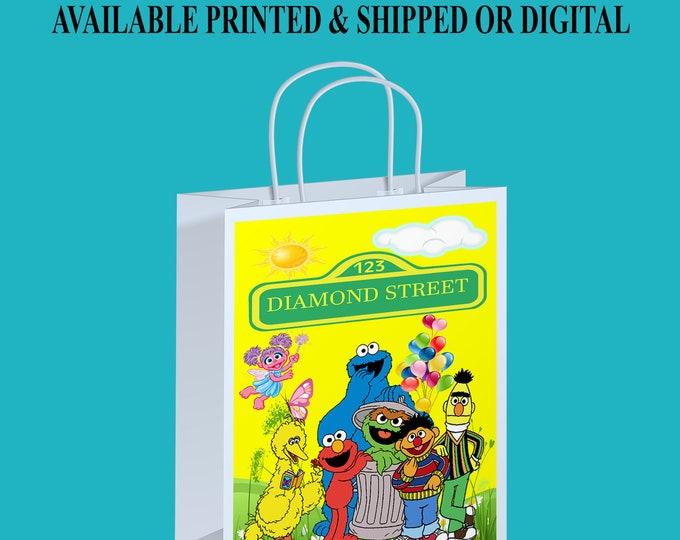 Sesame Street Gift Bag - Party Favor - Custom Party Favor - Sesame Street Party - Gift Bag - Digital - Party Printables - Printed