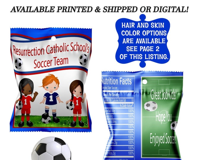Soccer Fruit Snack Favors - Fruit Snacks - Soccer Party - Soccer Favor Wrappers - Soccer Party Favors - Digital - Printed - Party Printable