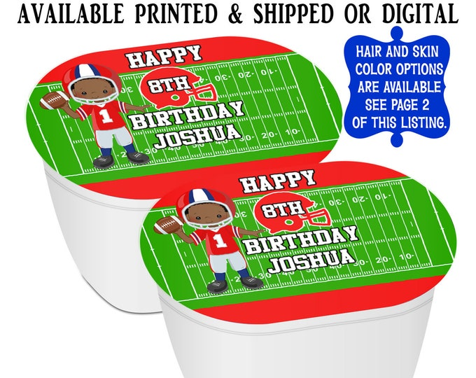 Football Stacked Chips - Potato Chip Snack Stack - Football Party Favors - Football Birthday - Snack Stacks - Digital - Party Printables