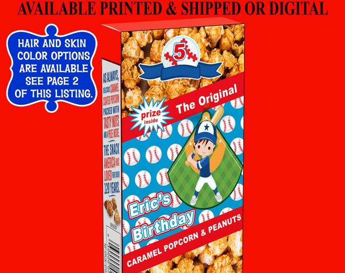 Baseball Cracker Jack Labels - Cracker Jack Labels or Treats - Baseball Party Favor - Labels - Cracker Jacks - Digital - Party Printables